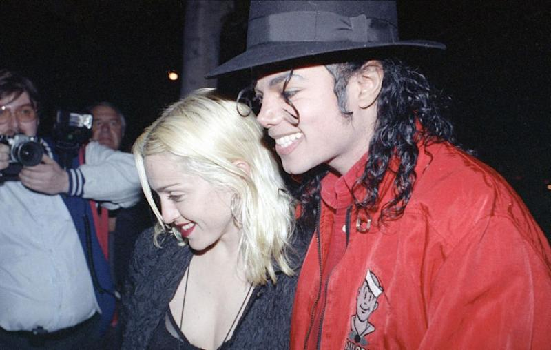 Madonna and Michael Jackson pictured going out for dinner in Los Angeles in April 1991. Source: AP