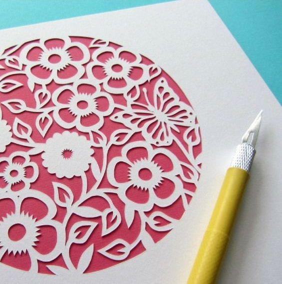 paper cutting card