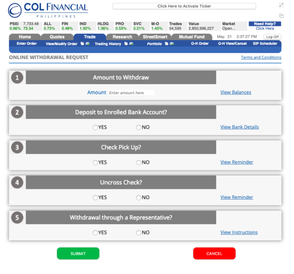 col financial for beginners philippines - how to withdraw money from col financial online