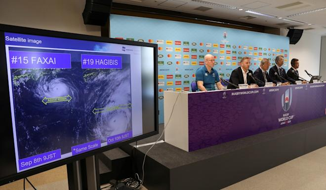 Rugby World Cup organisers have cancelled two games. Photo: Reuters