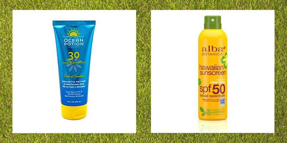 """<p>We all know you're supposed to protect your skin when you go outside. (It's so important to Ree Drummond, who's advocated for sun protection ever since she had a basal cell carcinoma removed from her neck when she was 30.) But why choose natural sunscreen over other kinds? While chemical sunscreens penetrate your skin's surface and absorb UV rays, generally the best natural sunscreens (including <a href=""""https://www.thepioneerwoman.com/beauty/skin-makeup-nails/a33636477/ree-drummond-favorite-sunscreen/"""" rel=""""nofollow noopener"""" target=""""_blank"""" data-ylk=""""slk:Ree's fave"""" class=""""link rapid-noclick-resp"""">Ree's fave</a>!) sit on top of your skin to block the rays entirely. This means they're less likely to irritate sensitive skin—plus they'll work right away, whereas you typically have to wait at least 30 minutes before catching some rays with the chemical kind. </p><p>The most common active ingredients in natural sunscreen, also known as physical or mineral sunscreen, are zinc oxide and titanium dioxide. """"These ingredients are safer for you than those found in chemical sunscreens because they aren't absorbed into the body,"""" says Dr. Purvisha Patel, MD, a Tennessee-based dermatologist and the founder of <a href=""""https://go.redirectingat.com?id=74968X1596630&url=https%3A%2F%2Fwww.vishaskincare.com%2F&sref=https%3A%2F%2Fwww.thepioneerwoman.com%2Fbeauty%2Fskin-makeup-nails%2Fg32381661%2Fbest-natural-sunscreen%2F"""" rel=""""nofollow noopener"""" target=""""_blank"""" data-ylk=""""slk:Visha Skincare"""" class=""""link rapid-noclick-resp"""">Visha Skincare</a>. Even the FDA has proposed <a href=""""https://www.fda.gov/news-events/press-announcements/fda-advances-new-proposed-regulation-make-sure-sunscreens-are-safe-and-effective"""" rel=""""nofollow noopener"""" target=""""_blank"""" data-ylk=""""slk:stricter regulations"""" class=""""link rapid-noclick-resp"""">stricter regulations</a> that would <em>only </em>recognize zinc oxide and titanium dioxide as safe ingredients. Natural sunscreens have environmental benefits, too: Zinc"""