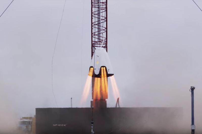 SpaceX's Dragon capsule for astronauts blazes through crucial hover test