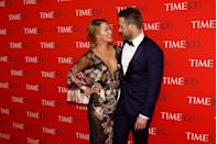 """<p>At the <a href=""""https://www.elle.com/uk/life-and-culture/culture/news/a35413/blake-lively-and-ryan-reynolds-just-had-the-most-adorable-date-night/"""" rel=""""nofollow noopener"""" target=""""_blank"""" data-ylk=""""slk:Time 100 Gala."""" class=""""link rapid-noclick-resp"""">Time 100 Gala.</a></p>"""