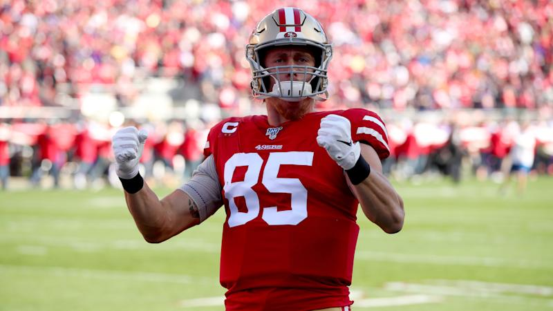 49ers' George Kittle photobombed by The Rock in roster Google search