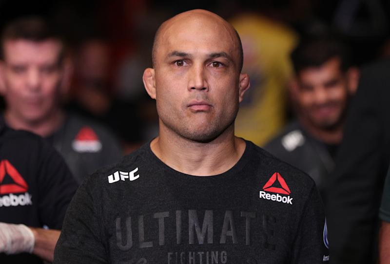 BJ Penn prepares to fight Clay Guida.