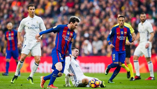 """<p>What else would be top of this list?</p> <br><p>El Clasico between Real Madrid and Barcelona transcends nations and all eyes will turn to the Santiago Bernabeu this coming Sunday for the latest edition in this long and heated rivalry.</p> <br><p>Even when the improved Atletico Madrid play Real, it doesn't quite match up to the same level as El Clasico. Madrid currently lead La Liga but Barcelona have a chance to leapfrog their rivals temporality until Los Blancos play their game in hand.</p> <br><p>To show how big this derby is: According to the <a href=""""http://www.bbc.co.uk/sport/football/29697426"""" rel=""""nofollow noopener"""" target=""""_blank"""" data-ylk=""""slk:BBC"""" class=""""link rapid-noclick-resp"""">BBC</a>, back in 2014 it was estimated that between 400 and 500 million people would watch El Clasico; and that number is only growing year on year. </p>"""