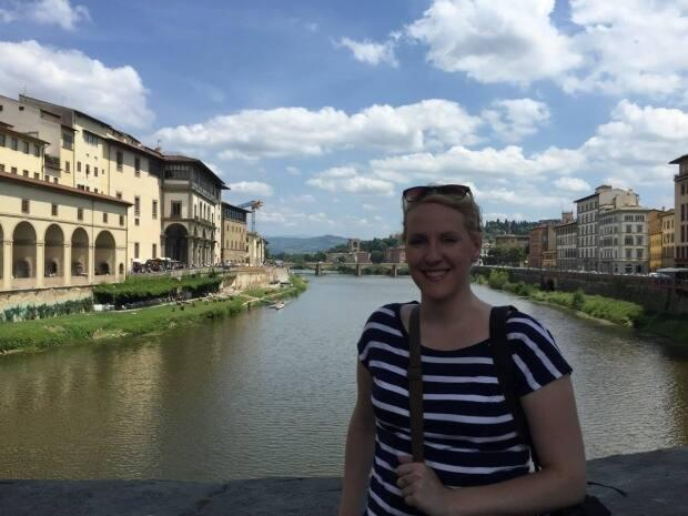 Kayla Walters accidentally left her iPad at a hostel while backpacking in Florence, Italy in 2015. (Submitted by Kayla Walters - image credit)