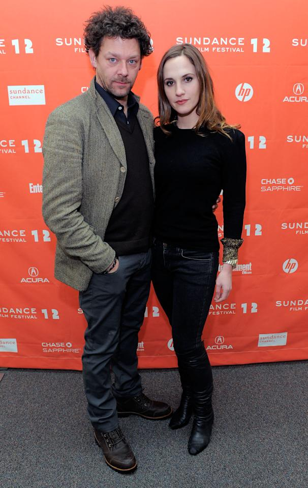 """PARK CITY, UT - JANUARY 23:  Actors Richard Coyle and Ruth Bradley attend the """"Grabbers"""" premiere during the 2012 Sundance Film Festival held at Library Center Theater on January 23, 2012 in Park City, Utah.  (Photo by Jemal Countess/Getty Images)"""