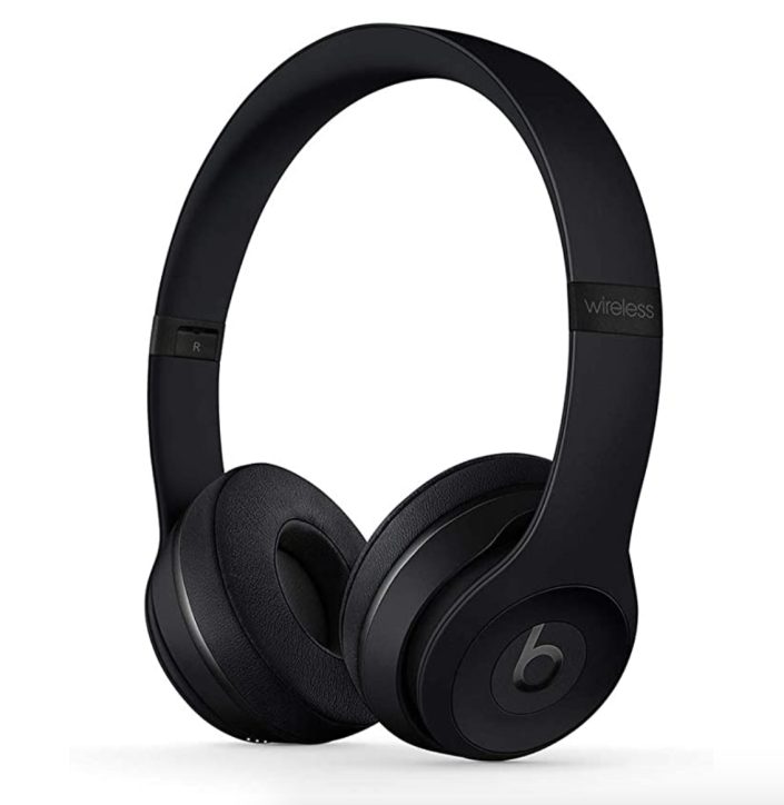 """<p><strong>Beats</strong></p><p>amazon.com</p><p><strong>$136.31</strong></p><p><a href=""""https://www.amazon.com/dp/B07SN757XP?tag=syn-yahoo-20&ascsubtag=%5Bartid%7C2139.g.37612148%5Bsrc%7Cyahoo-us"""" rel=""""nofollow noopener"""" target=""""_blank"""" data-ylk=""""slk:BUY IT HERE"""" class=""""link rapid-noclick-resp"""">BUY IT HERE</a></p><p>Beats Solo 3s bring that high-quality listening in a sleek, compact over-the-ear design. They come in a variety of color choices, so if he's one to match his tech to his outfit of the day, all the more reason to add this to your shopping cart.</p>"""