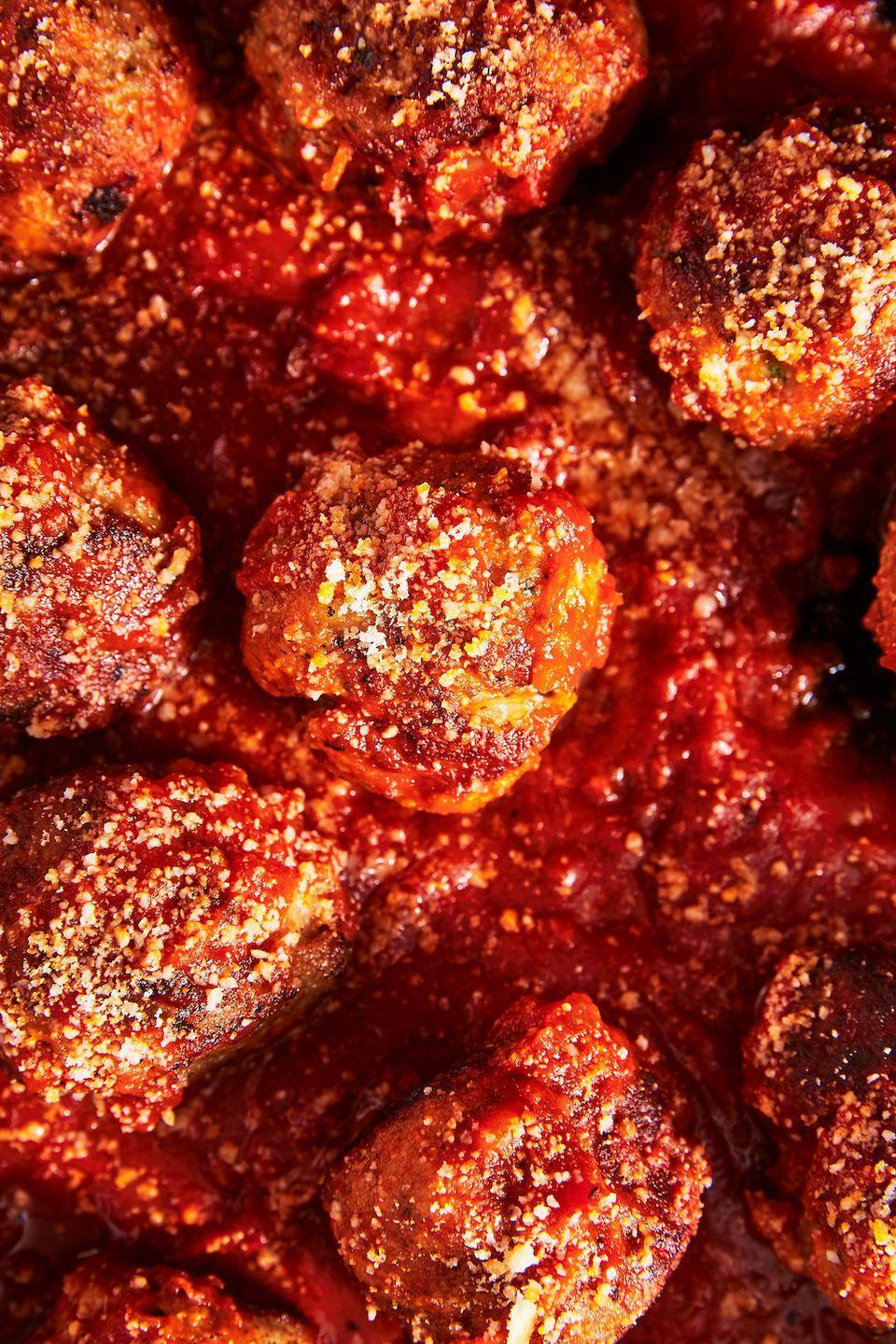 """<p>So good you'll be dreaming about them. </p><p>Get the recipe from <a href=""""https://www.delish.com/cooking/recipe-ideas/a25621572/italian-meatball-recipe/"""" rel=""""nofollow noopener"""" target=""""_blank"""" data-ylk=""""slk:Delish"""" class=""""link rapid-noclick-resp"""">Delish</a>. </p>"""