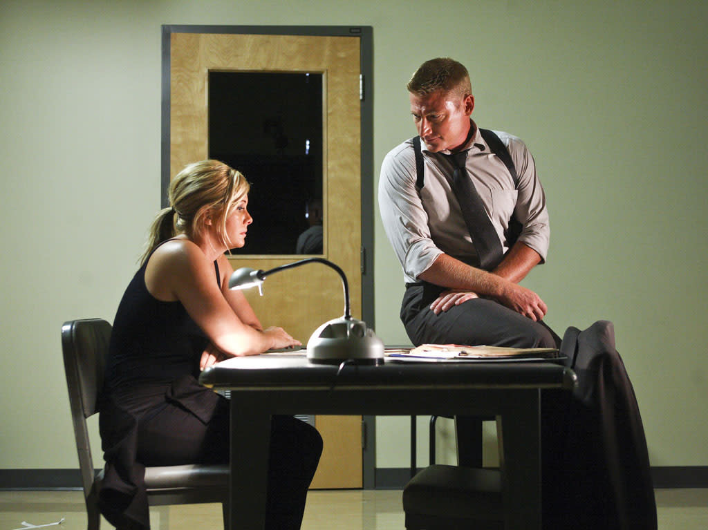 "Nicole Eggert and David Orth star in ""Past Lies,"" airing Friday, May 3, at 8pm ET/PT on LMN."