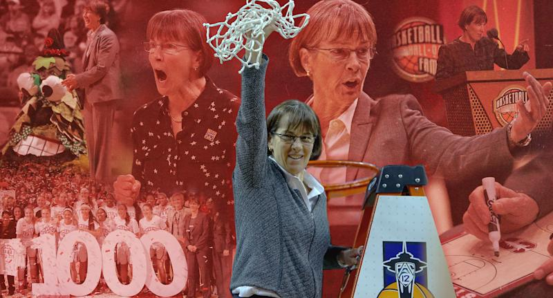 Stanford women's basketball coach Tara VanDerveer discussed the state of women's sports and SB 206's impact on her athletes. (Michael Wagstaffe/Yahoo Sports)
