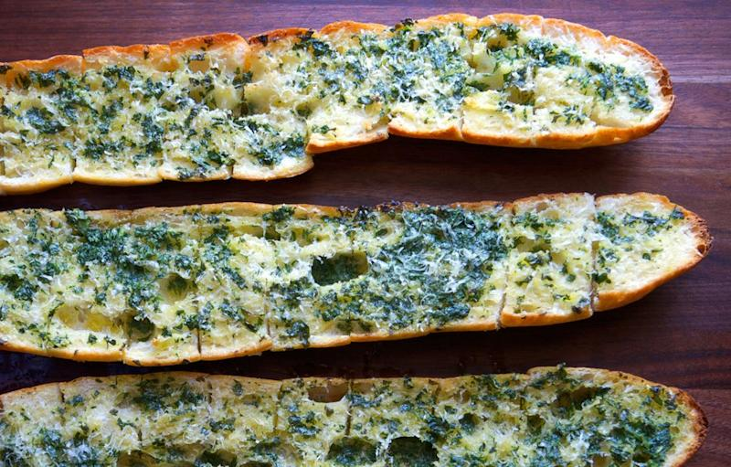 If you really want to do it up, serve this with garlic bread. But that's only for the true garlic daredevils.