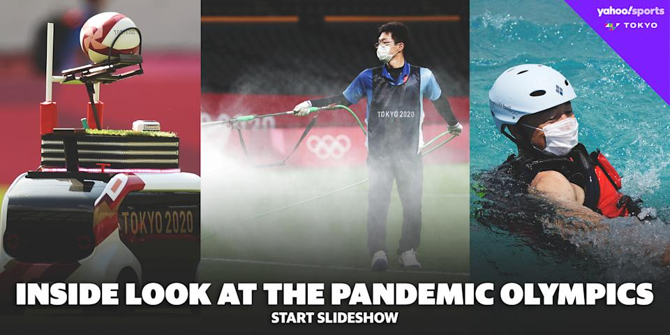 Inside look at a pandemic Olympics slideshow embed