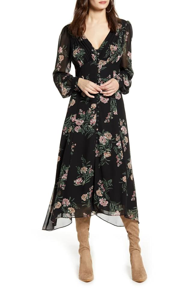 """<p>Wear this <a href=""""https://www.popsugar.com/buy/ASTR-Label-Floral-Long-Sleeve-Midi-Dress-485919?p_name=ASTR%20the%20Label%20Floral%20Long%20Sleeve%20Midi%20Dress&retailer=shop.nordstrom.com&pid=485919&price=55&evar1=fab%3Aus&evar9=46559802&evar98=https%3A%2F%2Fwww.popsugar.com%2Ffashion%2Fphoto-gallery%2F46559802%2Fimage%2F46562601%2FASTR-Label-Floral-Long-Sleeve-Midi-Dress&list1=shopping%2Cnordstrom%2Clabor%20day%2Csale%20shopping&prop13=api&pdata=1"""" rel=""""nofollow"""" data-shoppable-link=""""1"""" target=""""_blank"""" class=""""ga-track"""" data-ga-category=""""Related"""" data-ga-label=""""https://shop.nordstrom.com/s/astr-the-label-floral-long-sleeve-midi-dress/5265893?origin=category-personalizedsort&amp;breadcrumb=Home%2FSale%2FWomen%2FNew%20Markdowns&amp;color=black%2F%20mauve%20multi%20floral"""" data-ga-action=""""In-Line Links"""">ASTR the Label Floral Long Sleeve Midi Dress </a> ($55, originally $109) with a black leather jacket.</p>"""