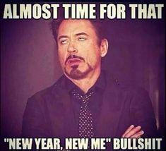 meme about not having new years resolution