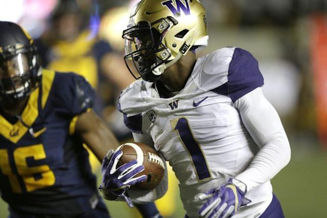 The Bengals drafted receiver John Ross ninth overall. (AP)