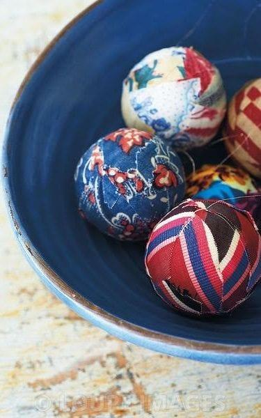 Fabric Christmas baubles - Credit: Ryland Peters and Small Ltd
