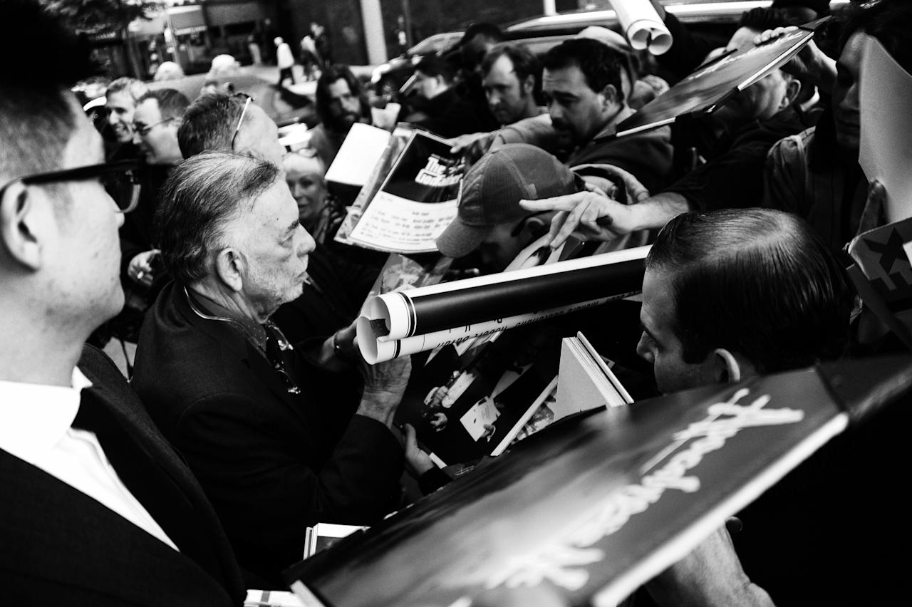Francis Ford Coppola mobbed by fans