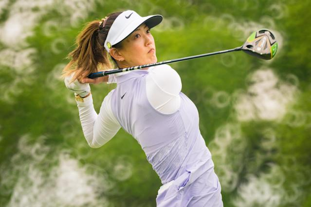 Michelle Wie might return to the links this year after the US Open was rescheduled due to the coronavirus pandemic. (Darren Carroll/PGA of America via Getty Images)