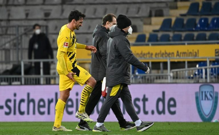 Borussia Dortmund defender Mats Hummels will miss Wednesday's Champions League match at Brugge after injuring this hamstring last Saturday