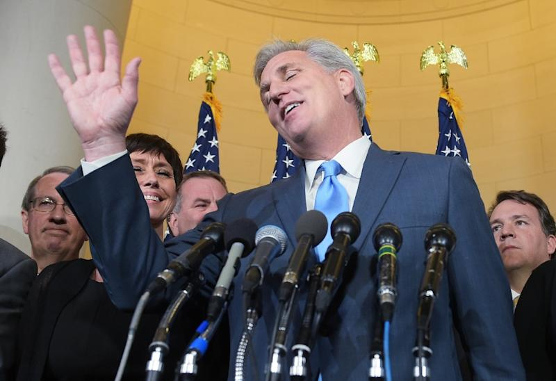 The Benghazi committee has been controversial and recently GOP lawmakers including number two Republican in the House Kevin McCarthy, pictured, have suggested it served to help damage Hillary Clinton's standing in the presidential race (AFP Photo/Mandel Ngan)