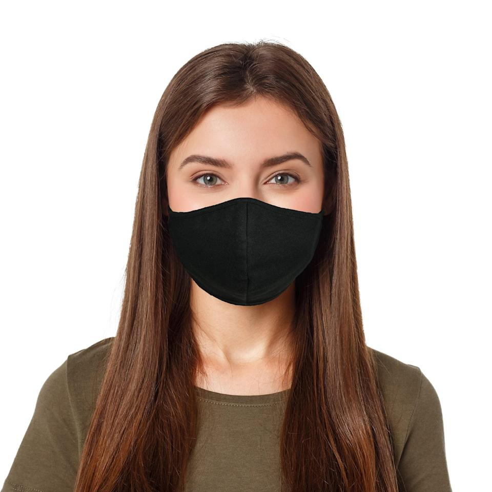 <p>Grab this <span>Cloth Face Mask</span> ($9) for your next workout. It's flexible and breathable cotton, and the elastic ear bands should sit comfortably.</p>