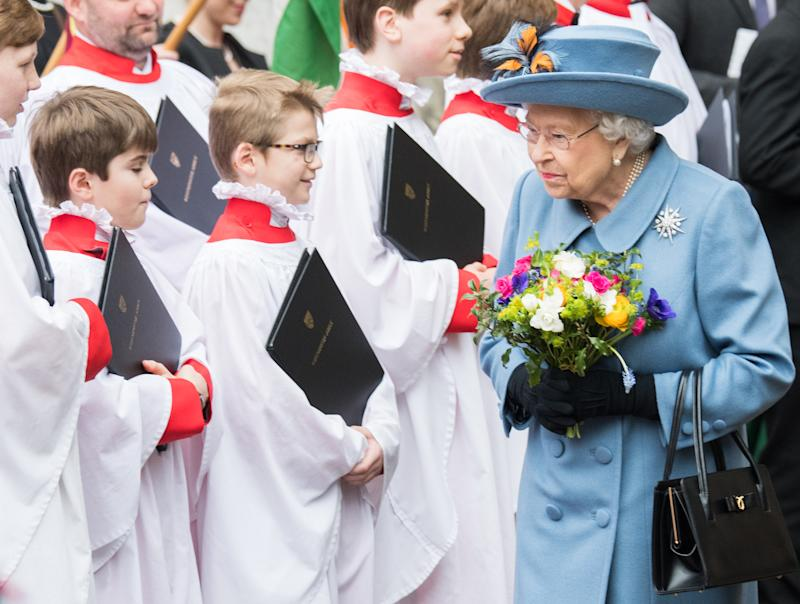 LONDON, ENGLAND - MARCH 09: Queen Elizabeth II attends the Commonwealth Day Service 2020 on March 09, 2020 in London, England. (Photo by Samir Hussein/WireImage)