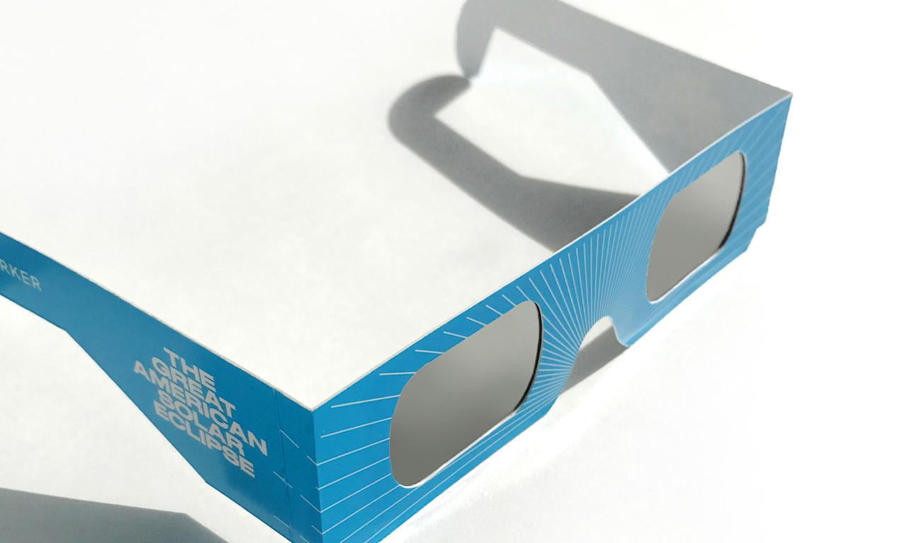 "<p>Throughout the month of August, all <a rel=""nofollow"" href=""https://www.warbyparker.com/"">Warby Parker </a>stores will be giving away free eclipse-viewing glasses that are designed specifically to safely view the total solar eclipse. (Photo: Warby Parker) </p>"