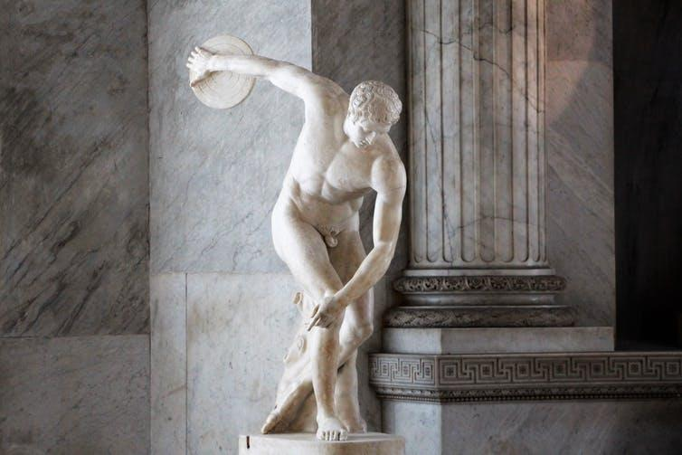 "<span class=""caption"">Copy of Myron's Discobolus at the Vatican Museums in Rome.</span> <span class=""attribution""><span class=""source"">By Leomudde - Own work, CC BY-SA 4.0</span></span>"