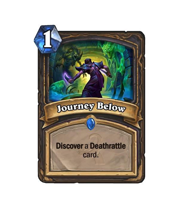 <p>Finding a brand new card for 1 mana is quite good, and to have it guaranteed to be a Deathrattle card is even better. Rogues will be drooling over this guy.</p>
