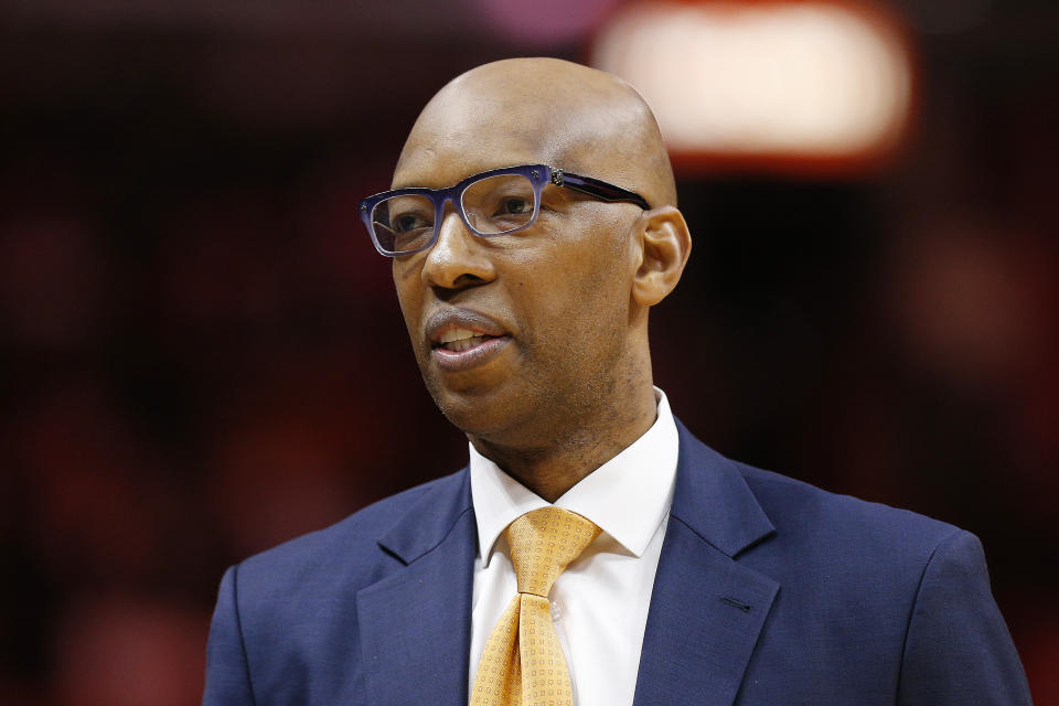 Philadelphia 76ers assistant coach Sam Cassell. (Michael Reaves/Getty Images)