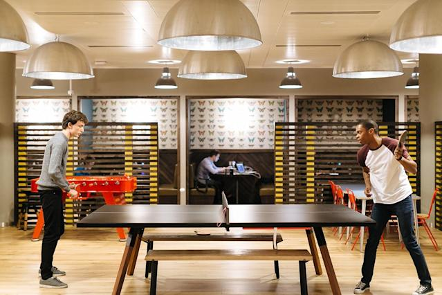 Ping pong in a co-working space (Source: Haus)
