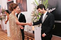 <p>As well as with costar Ben Whishaw. </p>