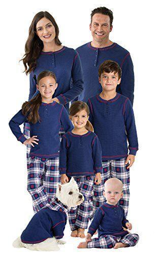"""<p><strong>PajamaGram</strong></p><p>amazon.com</p><p><strong>$21.99</strong></p><p><a href=""""https://www.amazon.com/dp/B01MZWNTYF?tag=syn-yahoo-20&ascsubtag=%5Bartid%7C10050.g.4956%5Bsrc%7Cyahoo-us"""" rel=""""nofollow noopener"""" target=""""_blank"""" data-ylk=""""slk:Shop Now"""" class=""""link rapid-noclick-resp"""">Shop Now</a></p><p>Blue-and-white plaid pants pair perfectly with a matching Henley top. Your dog can even get in on this one!</p>"""