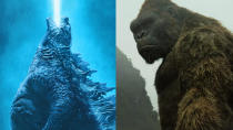 Recently pushed back by several months, this kaiju smackdown feels like the last chance saloon for Warner's MonsterVerse. It will pit its two biggest names against each other, with <em>Blair Witch</em> director Adam Wingard at the helm. They'll all be hoping it goes better than <em>Batman v Superman</em> did. (Credit: Warner Bros)