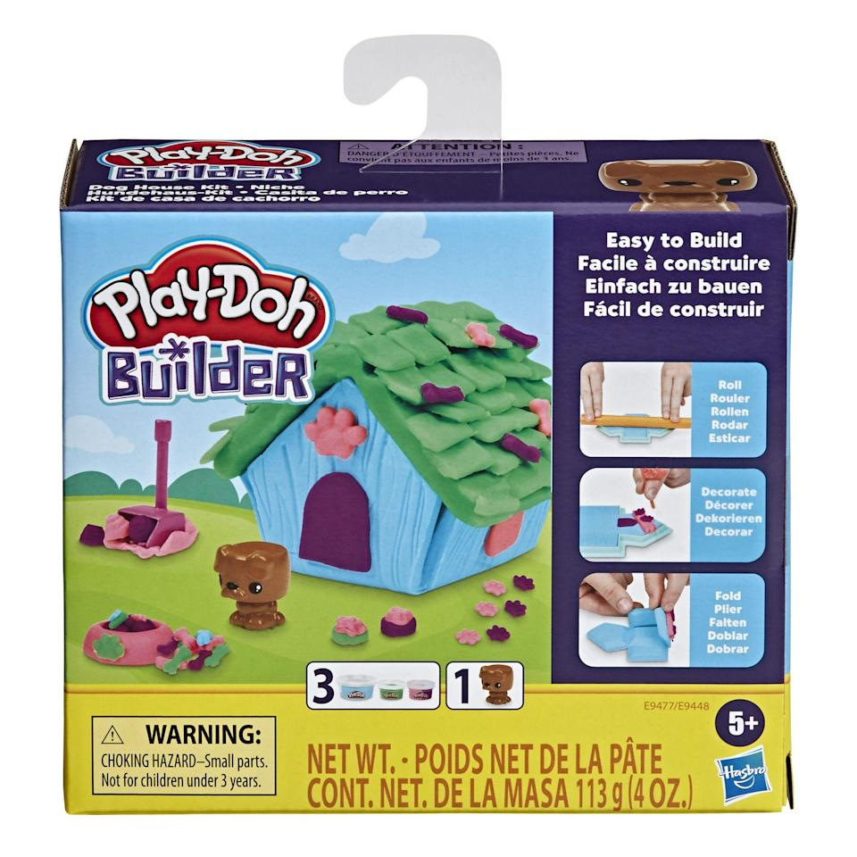 "<p><strong>Play-Doh</strong></p><p>walmart.com</p><p><strong>$4.99</strong></p><p><a href=""https://go.redirectingat.com?id=74968X1596630&url=https%3A%2F%2Fwww.walmart.com%2Fip%2F783780556&sref=https%3A%2F%2Fwww.goodhousekeeping.com%2Fholidays%2Fvalentines-day-ideas%2Fg4987%2Fvalentines-day-gifts-for-boys%2F"" rel=""nofollow noopener"" target=""_blank"" data-ylk=""slk:Shop Now"" class=""link rapid-noclick-resp"">Shop Now</a></p><p>When he's beyond regular rolling and squishing Play-Doh, get him this kit, which has enough compound and tools to make his own doghouse. It's part of the ""Play-Doh Builders"" line, which won a <a href=""https://www.goodhousekeeping.com/childrens-products/toy-reviews/a34370433/good-housekeeping-toy-awards-2020/"" rel=""nofollow noopener"" target=""_blank"" data-ylk=""slk:2020 Good Housekeeping Toy Award"" class=""link rapid-noclick-resp"">2020 <em>Good Housekeeping</em> Toy Award</a>. <em>Ages 5+</em></p>"