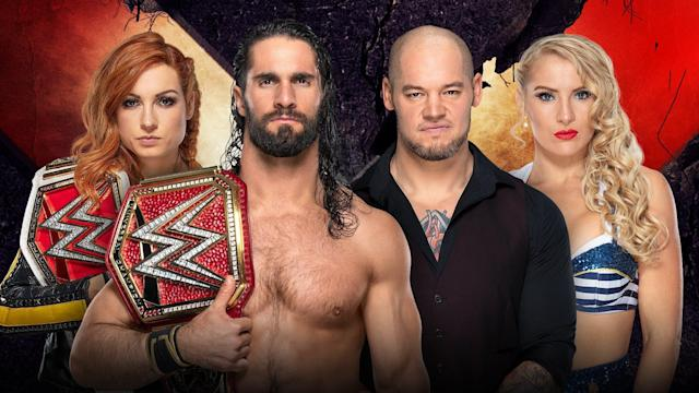 Complete results and live coverage of WWE Extreme Rules 2019 including Becky Lynch and Seth Rollins facing Lacey Evans and Baron Corbin in a mixed tag team Extreme rules match with two titles on the line Sunday night.