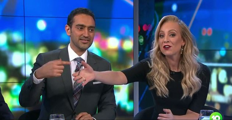 Carrie Bickmore had an uncharacteristic blunder on Tuesday night's The Project. Photo: Channel 10