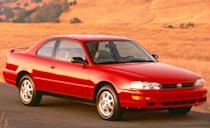 <p>In 1994, Toyota launched a two-door Camry coupe. With the same overall dimensions as the sedan (other than its 0.2-inch-shorter height), it used the same four-cylinder and V-6 engines and was intended as a sportier choice, especially in the racier SE V-6 trim level that was also offered for the sedan. The Camry also received a lighter aluminum-block V-6 with 188 horsepower and improved fuel economy.</p>