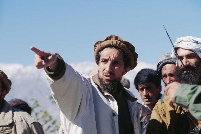 Ahmad Shah Massoud, commander of the anti-Soviet and anti-Taliban Northern Alliance militia, is seen on the battlefield north of Kabul, Afghanistan, in an October 27, 1996 file photo. / Credit: Patrick ROBERT/Sygma/Getty
