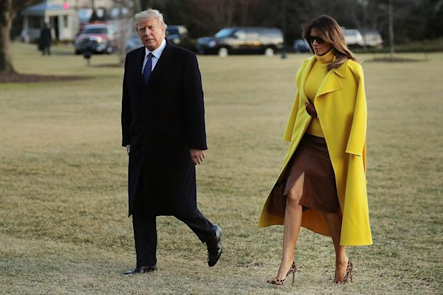 A majority of Americans believe Melania Trump should forgive the president in the event of an extramarital affair. (Photo: Getty Images)