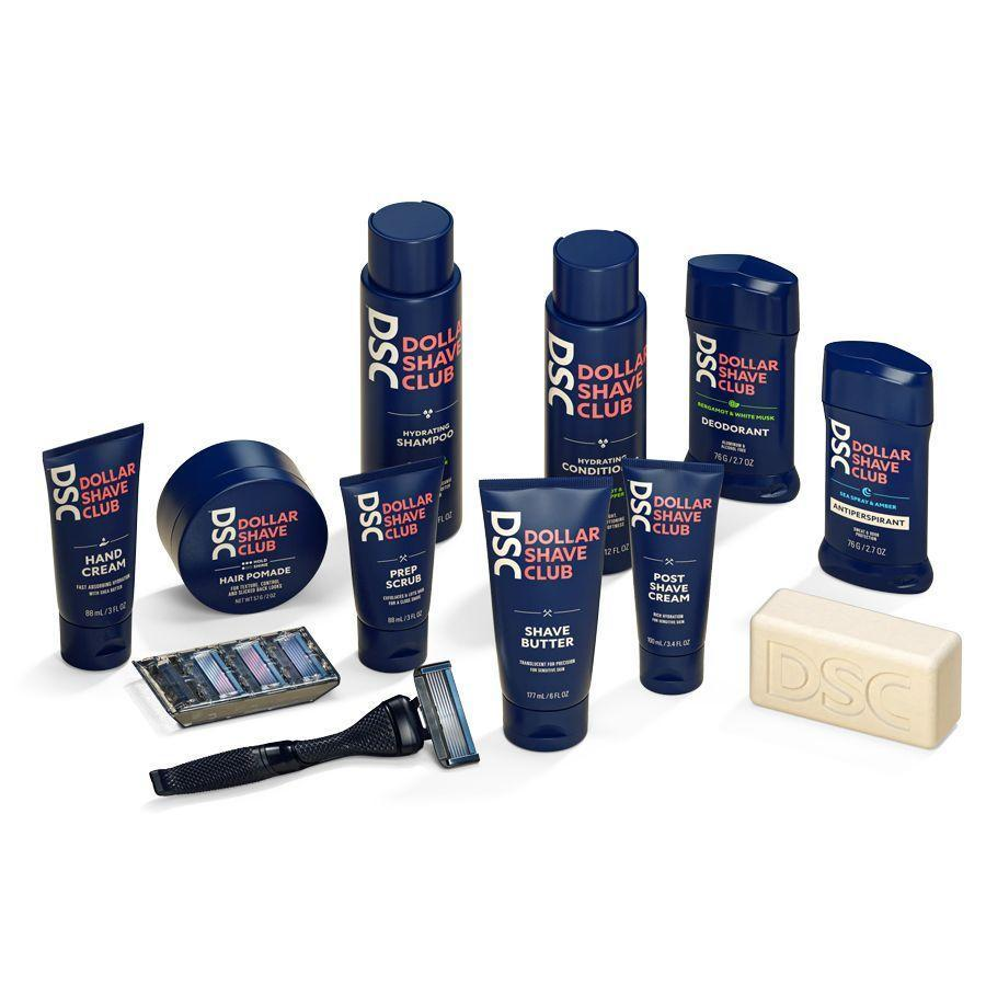 """<p>dollarshaveclub.com</p><p><a href=""""https://go.redirectingat.com?id=74968X1596630&url=https%3A%2F%2Fwww.dollarshaveclub.com%2Fget-started%2Fhow-it-works&sref=https%3A%2F%2Fwww.menshealth.com%2Fgrooming%2Fg36290394%2Fbest-shave-clubs%2F"""" rel=""""nofollow noopener"""" target=""""_blank"""" data-ylk=""""slk:BUY IT HERE"""" class=""""link rapid-noclick-resp"""">BUY IT HERE</a></p><p>Dollar Shave Club basically invented the shaving subscription model and continues to be one of the best out there. These days, the subscription goes way beyond just shaving, which makes this club one of the most customizable on this list. Start with a quick quiz about your grooming habits, and they'll recommend the best razor, cream, and other products from their vast selection. From there, you can choose which ones you want to receive (we suggest going big because, why not) and they'll be shipped to you at a discount. Choose how often you want to receive your products (every month or less frequently), and your grooming products show up at your door. You could stick to shaving, but we suggest trying their other products, too. </p>"""