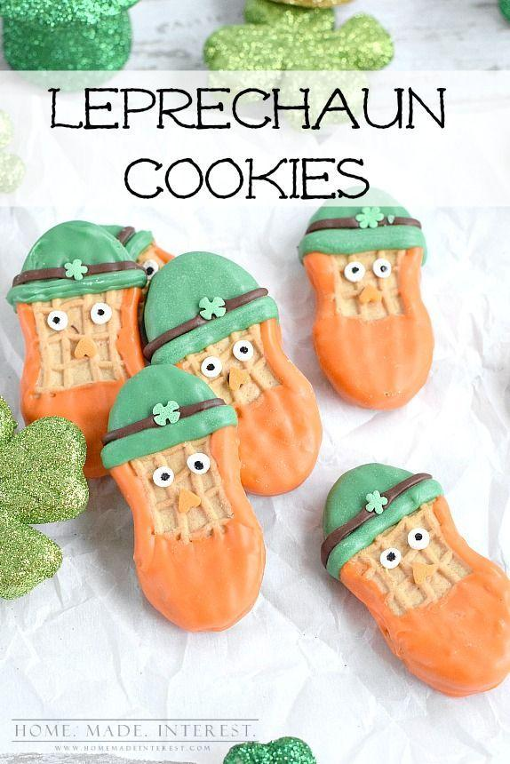 "<p>No baking required: All you need is Nutter Butter cookies and festive candy melts to make this lazy (but delicious) food craft.</p><p><em><a href=""http://www.homemadeinterest.com/st-patricks-day-leprechaun-cookies/"" rel=""nofollow noopener"" target=""_blank"" data-ylk=""slk:Get the recipe from Homemade Interest"" class=""link rapid-noclick-resp"">Get the recipe from Homemade Interest</a></em><br><strong><br></strong><strong>RELATED: </strong><a href=""https://www.goodhousekeeping.com/holidays/g1019/st-patricks-day-crafts/"" rel=""nofollow noopener"" target=""_blank"" data-ylk=""slk:24 St. Patrick's Day Crafts to Make With Your Kids"" class=""link rapid-noclick-resp"">24 St. Patrick's Day Crafts to Make With Your Kids</a></p>"