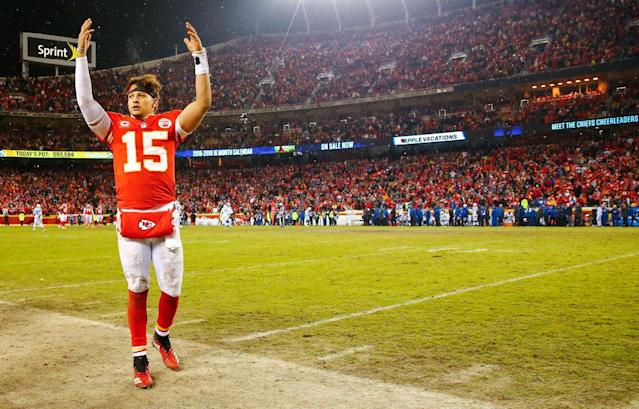Patrick Mahomes is as close to a sure-thing at the top of fantasy QB tiers as it gets. (Photo by David Eulitt/Getty Images)