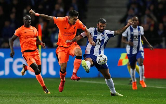 "9:37PM Full time A comprehensive victory in a match that turned into a cakewalk after a cagey beginning. Once they laid the foundations, they demolished and demoralised Porto. Everyone deserves credit but the fluid movement of the front three, their intuition and understanding of each other's thinking was too hot for Porto to handle. They inflicted Porto's worst ever defeat and that, for double champions, will sting. 9:32PM 88 min There are barely any Porto fans left in the posh seats. They've been shredded by Liverpool's pace and persistence. It's been the kind of thrashing that is difficult to come back from, killing the home side's confidence and credibility. 9:30PM 85 min Hat-trick. Given so much space with Sergio Oliveira, Marcano and Reyes panicked by the presence of Salah and Ings wither side and backing off, Mane torpedoed a rasping right-foot shot from 25 yards into the bottom right corner. Porto 0 - 5 Liverpool (Sadio Mané, 85 min) 9:28PM Goal! Porto 0-5 Liverpool (Mane) 9:26PM 82 min Tremendous dipping cross from Robertson, curled in from the left on an outswinging trajectory. Mane, on a hat-trick, is undone by the bounce and though he connects crisply he smashes his lunging half-volley over the bar. 9:25PM 80 min It's Danny Ings' Champions League debut tonight and he immediately adopts an orthodox centre-forward position. Van Dijk is now playing through the middle of a back three and is wandering forward like a Sammer or Koeman though not yet in that class. 9:22PM 78 min Firmino off, Danny Ings on. Joe Gomez also on to replace Trent Automobile-Association. 9:20PM 76 min Head tennis in the Porto box - Robertson squares his header to Firmino who batters his over from 10 yards. He was offside, though. Liverpool sub: Matip replaces Henderson. 9:19PM 74 min Goncalo Paciencia replaces Tiquinho Soares. 9:17PM 72 min Another crucial intervention - well crucial to the clean sheet if not the result - from Van Dijk, covering behind Lovren. Cute pass from Herrera pushed the ball on the angle beyond Lovren towards Soares but Van Dijk sprinted round on the cover to deflect the toe-poked shot wide. Karius runs straight over to embrace him. 9:15PM 70 min Lining up in the middle for Milner's cross after Mane storms forward and leaves Corona in his wake. The substitute tried to keep pace with Mane's storming run but would have needed a third lung to give him a chance. Mane slipped it to the left, Milner squared it towards the spot and Firmino rattled in a low shot. Salah was free at the back post but wasn't needed. Porto 0 - 3 Liverpool (Sadio Mané, 53 min) 9:12PM Goal! Porto 0-4 Liverpool (Firmino) 9:12PM 67 min Van Dijk repays his team-mates who got him out of schtuck with a block of Corona's cross by winning the header and clearing the corner. 9:10PM 66 min Van Dijk makes a crummy attempt at a tackle, going for the block tackle but side on and in a namby-pamby style, not commiting the full weight of his foot to it. Porto whip it past him and win a corner. Van Dijk needed to welly that. 9:09PM 64 min Wijnaldum, for the second time, insouciantly robs Marega whose composure and confidence is being slowly punctured by the Dutchman's persistent sttention. 9:05PM 61 min Porto substitution. Majeed Waris replaces Brahimi. Karius plucks a tame, floaty centre from Alex Telles from the rain-filled sky. 9:03PM 59 min Liverpool are stroking the ball around at the back, Romeo y Julietas aglow. Porto look demoralised. 9:00PM 57 min Herrera, Sergio Oliveira and Corona are being made to look like carthorses chasing Liverpool's thoroughbred front three. 8:59PM 55 min Made by the three musketeers, Salah breaking after being played in by a gorgeous Firmino backheel 10 yards outside his own box. Firmino hares off straight through the middle as Salah dribbles forward at full pelt. Salah spears a pass to the left of the D, perfectly weighted and Porto can't keep pace with any of them. Firmino goes for a side-foot finish to Jose Sa's left but the keeper does reach it at full stretch but can only parry it to the supporting Mane who rolls the ball into an empty net. Porto 0 - 3 Liverpool (Sadio Mané, 53 min) 8:55PM Goal!! Porto 0-3 Liverpool (Mane) 8:55PM 51 min Ricardo prepares to race past Milner who decides to kick him across the shins to halt his progress. Free kick, protested spuriously by Henderson, but no yellow card. 8:53PM 50 min Brahimi has come inside now but is too close to his own box and gets in a tangle. Herrera, his captain, bails him out. 8:52PM 48 min Mane comes out to defend by the left-back corner flag when Robertson makes his way back into the box to win a header. He sticks to Corona and wins a throw-in off him with some neat control. 8:49PM 46 min Porto get things underway - no changes for Liverpool. Otavio is off for Porto - Corona has come on to play centre mid. Steve McManaman advises Porto to move Brahimi in from the left wing - but he's still out there so far. 8:40PM Liverpool on the front foot I've gone back to put in photos of Salah's juggle in stages. You may have to refresh your browser to see them. Possession: Porto vs Liverpool Average touch positions (half time) Porto vs Liverpool shots on goal 8:32PM Half time Liverpool walk in 2-0 up after a strange opening half. Porto were disjointed, devoid of inspiration while Liverpool picked them off after gradually taking a decisive grip on dominance. 8:30PM 44 min Lovely pass from Brahimi slides the ball past Lovren and Tiquinho Soares has a shot from 18 yards that takes an undetected but vital touch off Van Dijk's toe that takes it inches wide of the left post. Miss: Porto 0 - 2 Liverpool (Tiquinho Soares, 44 min) 8:28PM 42 min Porto at last break free of the stranglehold that has pinned them in their own box. Otavio runs forward down the left and exchanges passes with Brahimi. 8:27PM 40 min Firmino has a shot from 25 yards, wide on the left, and launches it into orbit a la Chris Waddle. Mo Salah becomes only the 13th different #LFC player to score 30 goals in a season. ������ pic.twitter.com/u3fEP8icgx— Liverpool FC (@LFC) February 14, 2018 8:25PM 39 min Robertson has demoralised Marega with his bustling shuttles up and down the left touchline. Robertson should, however, have made more of a lightning charge from defending a corner to launch a counter-attack. His imprecise pass to Mane killed all the momentum. 8:24PM 37 min Wijnaldum dispossesses Marega who isn't at all impressed. He's everywhere. The crowd want another foul but it was perfectly legal. 8:22PM 35 min When Liverpool have the ball at the back thy line up almost in a 2-4-1-3 with Milner ahead of the full-backs and Henderson and Wijnaldum. He's also playing well tonight, popping up right, left and centre. 8:20PM 33 min The conservative, probing, patient start has had spectacular results for Liverpool. 8:18PM 30 min Salah has ice in his veins. Milner brushes past Marega who falls flat on his face and demands a foul but nothing doing. Spoggy Milner uses the space to set up a bending right foot shot from the left that arcs around Jose Sa and crashes into the post. It bounces fortunately for Salah who shows tremendous composure as Jose Sa leaps back to his feet and tries to flying starfish him. Salah cushions it on his head, juggle it with two left foot taps to glide past and elude the keeper before stabbing it in from three yards off the turf with the side of his left foot. Porto 0 - 2 Liverpool (Mohamed Salah, 29 min) 8:14PM Goal! Porto 0-2 Liverpool (Salah) Salah begins his juggling routine Credit: Action Images via Reuters/Matthew Childs Immaculate control Credit: Action Images via Reuters/Matthew Childs The finish Credit: John Powell/Liverpool FC via Getty Images 8:14PM 27 min Iker Casillas, benched in the autumn, is captured on the bench with a stone-faced expression. Wijnaldum is having a fine game. 8:12PM 25 min A goalkeeping error. Mane, right-foot shot when found by Wijnaldum who, 30 seconds earlier ought to have been played in by Mane for a tap in. Mane makes amends, finishing off Wijnaldum's driving burst, but the keeper takes the credit/blame by diving over the top of it and squirming as it slithered beneath him. Porto 0 - 1 Liverpool (Sadio Mané, 25 min) 8:10PM Goal! Porto 0-1 Liverpool (Mane) Mane scores Liverpool's opener with a great deal of help from Jose Sa (out of the picture) Credit: John Powell/Liverpool FC via Getty Images 8:09PM 23 min Terrific clearance from Marcano again, this time whipping the ball away when Firmino went headlong to graze his nose on an Andy Gray turf-skimming diving header among the flying boots, muck and nettles. Vicious fizz on the cross from Robertson. 8:08PM 20 min A sniff of a chance for Liverpool when Sa slips and scuds a clearance at Firmino who feeds Salah. He has the clearer route to goal, opts instead to try to find Firmino by the penalty spot as he ran towards the box from the right. Marcano slides in to block. Liverpool take the corner but Lovren is penalised for jostling. 8:03PM 17 min Otavio is a tidy player, spinning quickly and laying off short passes. He does Salah in the centre-circle, pops it off to Brahimi who spots a gap down Liverpool's left but overhits his pass intended to let Ricardo run at Robertson. 8:01PM 15 min Van Dijk drills a long diagonal 40 yards over to the left for Mane to chase. He can't control it - for the second time - but the centre-back's ability to ping long passes can unpick this Porto defence. 7:58PM 12 min Brahimi plays a blind pass intended for Alex Telles but give sit straight to Salah who skitters forward and passes to Firmino to tee up a shot from the left, 25 yards out, from Robertson. He doesn't hit it properly so it floats instead of flies and Jose Sa, cranes his neck and watches it as it drifts over. 7:56PM 10 min Important block by Lovren when Otavio shoots from 15 yards having been played in by Marega's neat footwork in the box. Liverpool look shaky at the back, especially down the inside-right channel. Corner that Telles bends out then in again to give Karius catching practice. 7:54PM 9 min Brahimi is freed on the left when played in by Sergio Oliveira who turned a Liverpool midfielder. The diligent Alexander-Arnold escorts him up a cul de sac and takes the throw when he tries to turn him. 7:53PM 7 min For a team that has pressed hard all year, Porto are letting Liverpool have a lot of space and time. Ricardo, who has a monster throw, tracks Milner back all the way to his own corner flag and squuezes him out of room. 7:50PM 5 min Otavio skates away from Henderson and raids through the middle but Liverpool scramble it clear. 7:50PM 4 min Porto corner on the left, swung out by Alex Telles in such a dramatic parabola that it flirts with going out. Lovren heads it straight back to him but Karius catches his second effort. 7:48PM 3 min Very patient so far, moving the ball up the left until Mane runs out of space to chase and Porto have a goalkick. 7:46PM 1 min W're off and Liverpool attack from left to right. Trent Alexander-Arnold takes the pace off and Liverpool sweep the ball from right to left and back again. 7:15PM And your teams in black and white Porto Jose Sa; Ricardo, Reyes, Marcano, Alex Telles; Sergio Oliveira, Herrera; Marega, Otavio, Brahimi, Soares. Substitutes Casillas, Maxi Pereira, Osorio, Torres, Paciencia, Corona, Waris. Massage for four? Credit: John Powell/Liverpool FC via Getty Images Liverpool Karius; Alexander-Arnold, Lovren, Van Dijk, Robertson; Milner, Henderson, Wijnaldum; Salah, Firmino, Mane. Substitutes Mignolet, Gomez, Moreno, Matip, Lallana, Oxlade-Chamberlain, Ings. Referee Daniele Orsato (Italy) 6:41PM No Aboubakar in Porto's starting XI Eis o nosso 11: José Sá; Ricardo, Reyes, Marcano, Alex Telles, Herrera, Sérgio Oliveira, Otávio, Brahimi, Marega e Soares.#FCPorto#FCPLFC#UCLpic.twitter.com/uNq4Yutfgd— FC Porto (@FCPorto) February 14, 2018 He didn't train last night and the muscle injury he reported must be worse than originally feared. Suplentes: Casillas, Maxi Pereira, Osorio, Óliver, Corona, Waris e Gonçalo Paciência#FCPorto#FCPLFC#UCL— FC Porto (@FCPorto) February 14, 2018 6:40PM A colleague flies out Porto with the Red Men! #championsleaguepic.twitter.com/NGkBTmxtHj— Jamie Carragher (@Carra23) February 14, 2018 6:32PM Liverpool name expected line-up Looks like they've opted for the old tangerine nightmare strip again: �� Tonight's #LFC side to face @FCPorto ��https://t.co/pgij59f1mspic.twitter.com/iwIEvxvZUr— Liverpool FC (@LFC) February 14, 2018 6:31PM Good evening. Back in 2002, George W Bush gave an eloquent sheen to an old proverb. ""There's an old saying in Tennessee,"" he said. ""I know it's in Texas, probably in Tennessee - that says, 'Fool me once, shame on ... shame on you. Fool me ... you can't get fooled again."" Well, quite, you may say but consider the case of Rabah Madjer, the Algeria winger. In 1982 he hooked in his side's opener in the historic 2-1 defeat of West Germany at the World Cup and five years later, for Porto, he scored the equaliser against Bayern Munich with the most insouciant goal in European Cup final history, before setting up Juary's winner three-minutes later to do to Michael Rummenigge what he had already done to Karl-Heinz. That victory at the Prater, perhaps the least remembered European Cup final of them all in England, was Porto's first of two, picking up their second 17 years later in Gelsenkirchen under Jose Mourinho's guidance. It tends to puzzle people that Porto have won as many European Cups as Juventus - as have Nottingham Forest - and a third would put them on the same footing as Manchester United and Inter. Liverpool, England's most successful club, would like a sixth to move them ahead of Barcelona and Bayern and take third place in their own right again behind Milan and Real Madrid. Jürgen Klopp understandably seems reluctant even to contemplate it. ""I don't think the 2005 side thought about winning the Champions League before the last 16,"" he said. ""I'll ask Rafa but that would surprise me because it makes no sense. If we are in the final then I'll say we will try to win it but that is too far off. I don't like talking about the round after the round you are playing, in fact I hate it. I only answer nicely now because I am friendly and we are in public but if someone asked me about the round after the round in private I would leave the room."" Where does Spurs Juventus rank in the most exciting CL games? Leaving aside that we know that he wouldn't leave the room but breezily rain suitable invective on his interlocutor, there are plenty of signs that they have a decent chance of at least making the semis. The front three's movement is mesmerising, Andrew Robertson, who will surely make his Champions League debut tonight, is having a sensational debut season and Giorginio Wijnaldum covers a multitude of sins further back. Emre Can is suspended tonight which should open a spot for James Milner who may have been required anyway to help keep Porto's African trident - Yacine Brahimi, Vincent Aboubakar and Moussa Marega - at bay. Porto are undefeated in the league and are unbeaten in 24 games (won 18, drawn six) in all competitions. Liverpool, who have lost two of their last five in all competitions, have been to the Dragao twice and come away with a pair of draws, 0-0 in 2001 and 1-1, by virtue of Dirk Kuyt's equaliser in 2007. They would probably settle for the same tonight."