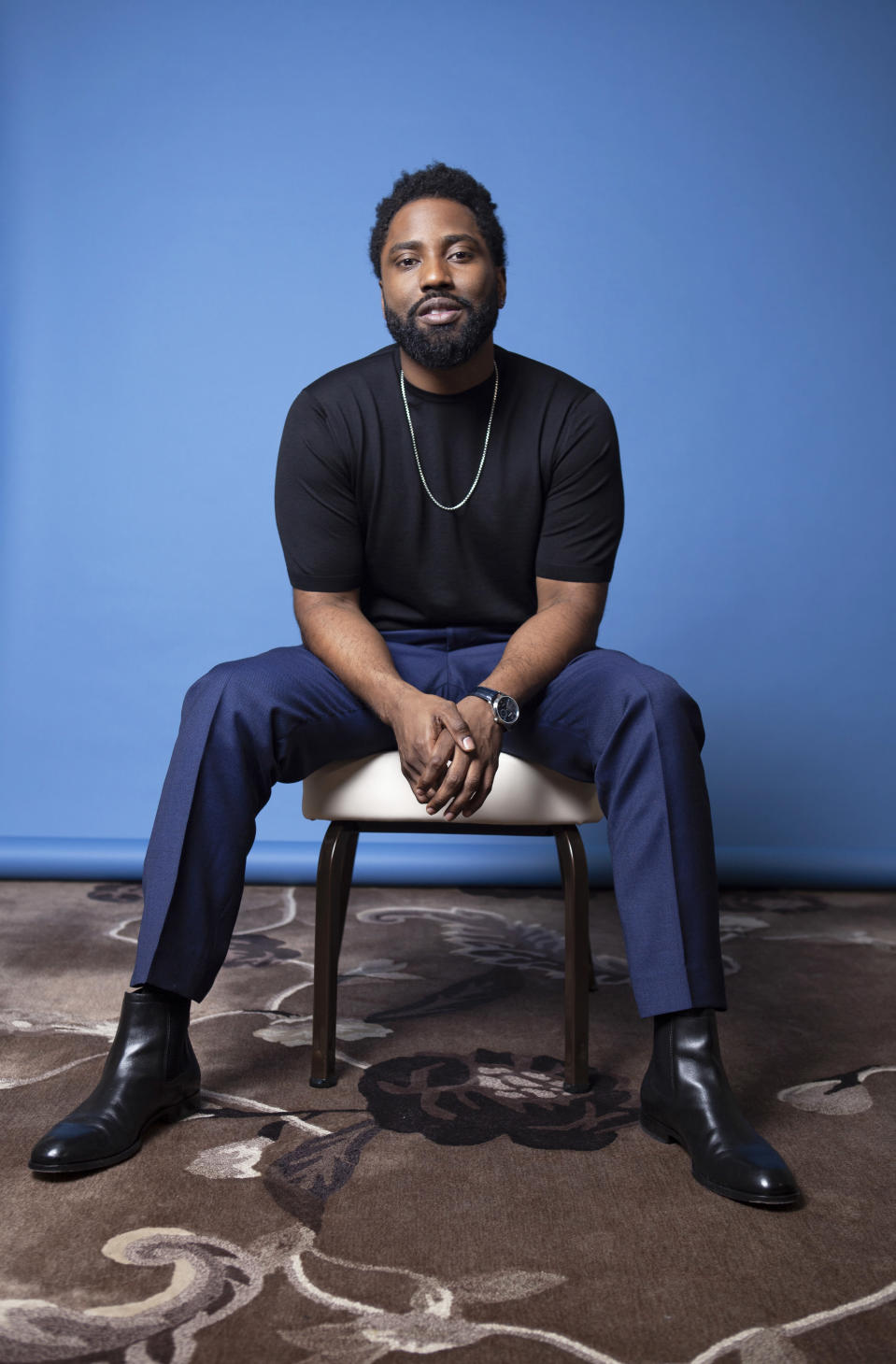 FILE - John David Washington poses for a portrait on Nov. 14, 2018, at the Four Seasons Hotel in Los Angeles. Washington turns 37 on July 28. (Photo by Rebecca Cabage/Invision/AP, File)