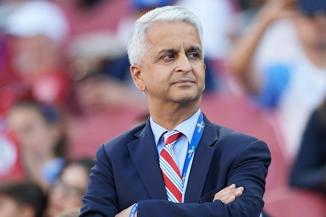 Sunil Gulati has been the president of the U.S. Soccer Federation since 2006. (Getty)