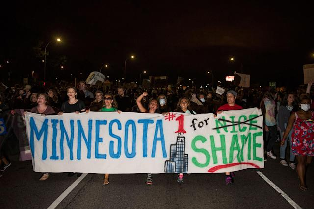 <p>Protestors shut down highway 94 on June 16, 2017 in St Paul, Minnesota. Protests erupted in Minnesota after Officer Jeronimo Yanez was acquitted on all counts in the shooting death of Philando Castile. (Stephen Maturen/Getty Images) </p>
