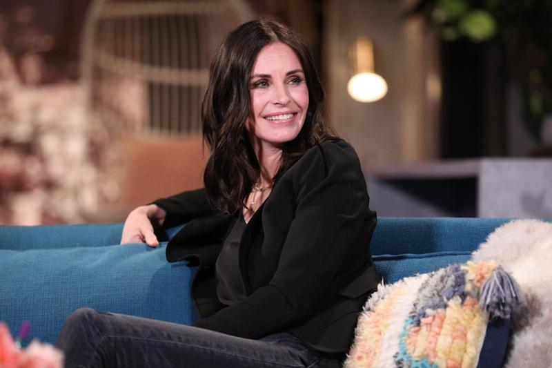BUSY TONIGHT -- Episode 1074 -- Pictured: Guest Courteney Cox on the set of Busy Tonight -- (Photo by: Jordin Althaus/E! Entertainment/NBCU Photo Bank via Getty Images)